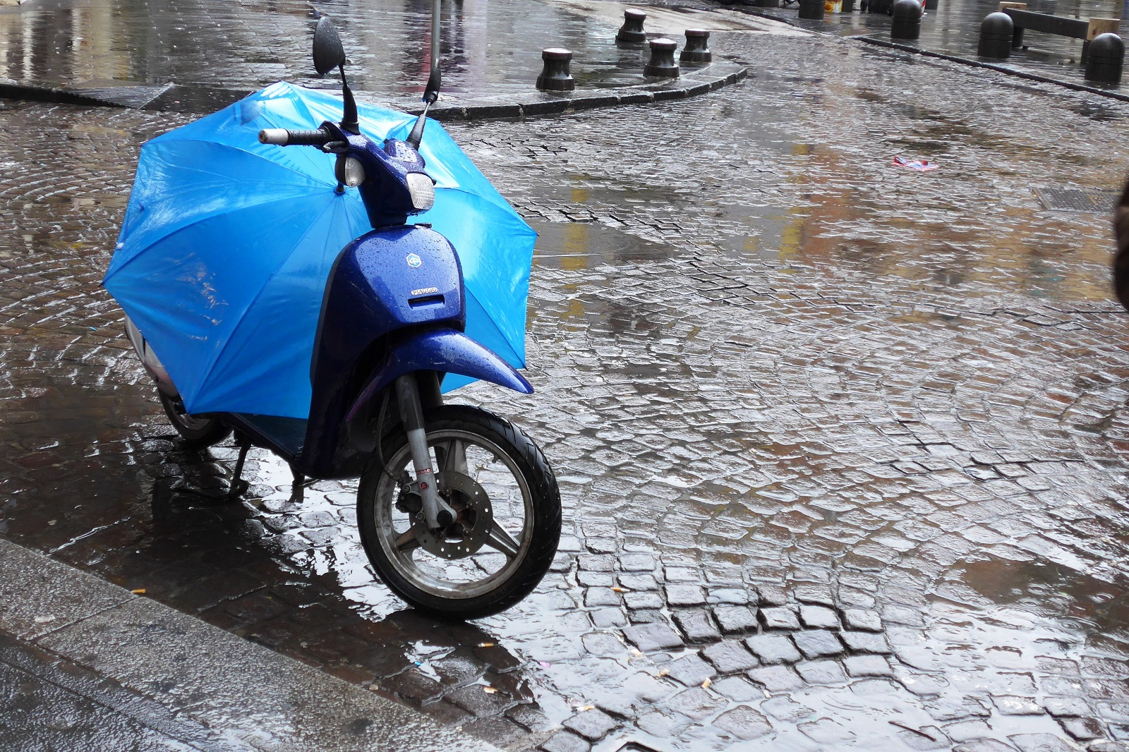 Vespa and Umbrella in Italy