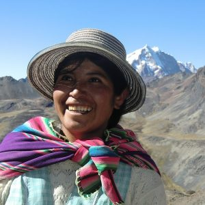 Womanin hat in Bolivia