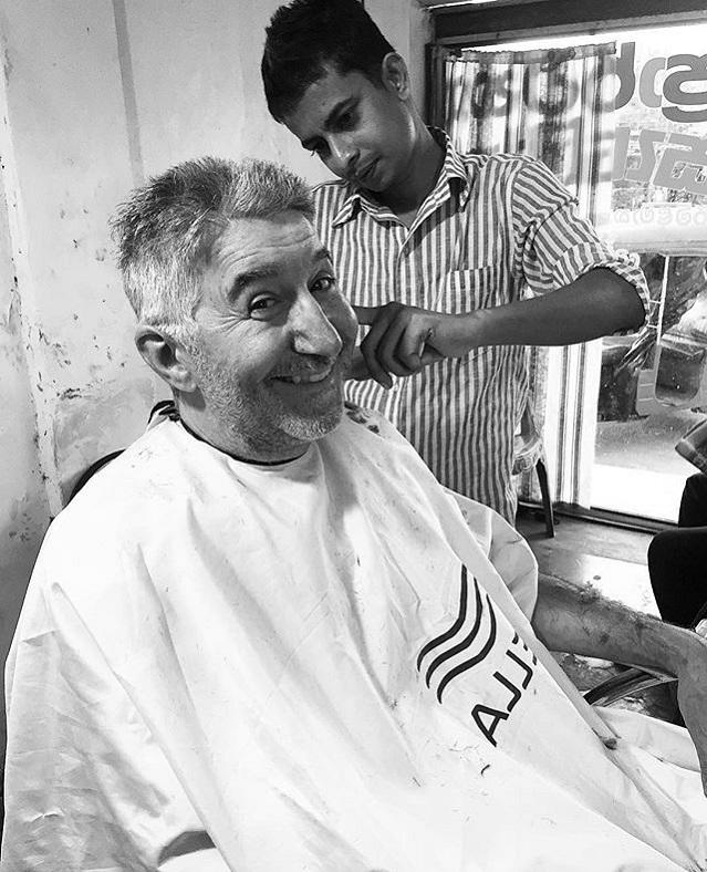0-Getting a haircut in Habarana Sri Lanka