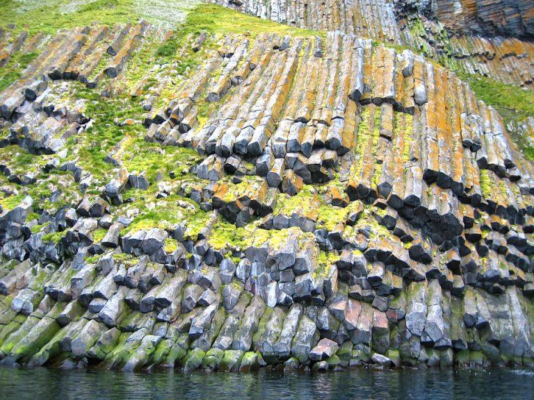 Columnar Basalt in Arctic