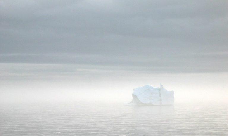 Iceberg in the Arctic mist