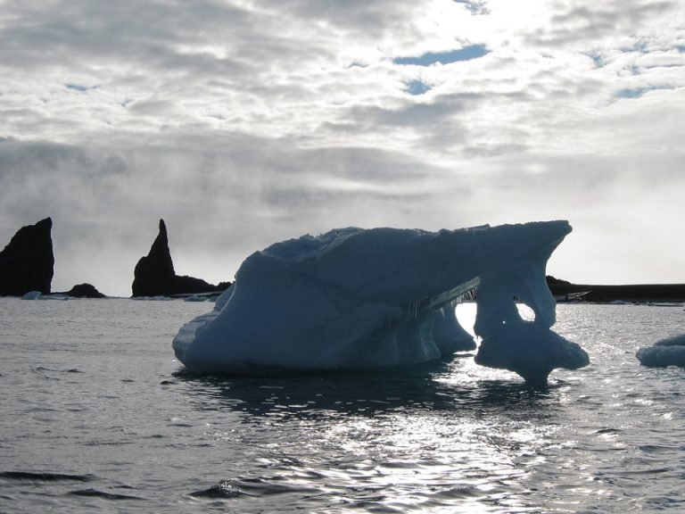 Arctic, Franz-Josefland, Iceberg and Rocks
