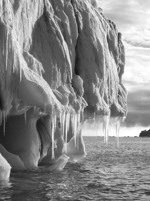 icicles on an iceberg