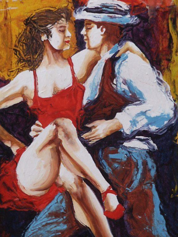 tango painting, Argentina