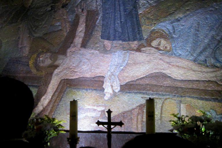Mural inside Bethlehem