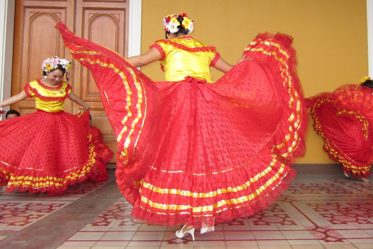 dancers in traditional dress, Nicaragua