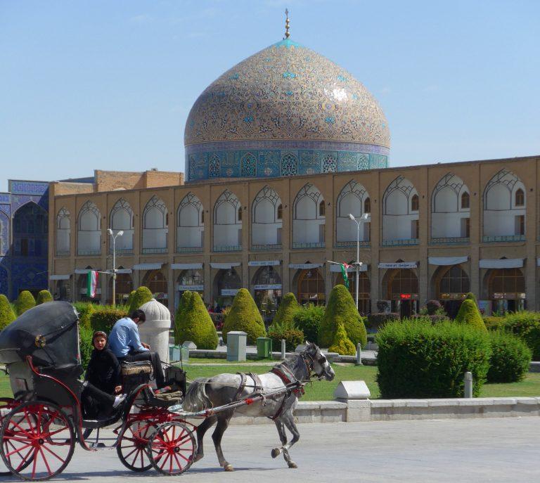 Horsecart in Naghshe Jahan Square, Esfahan, Iran