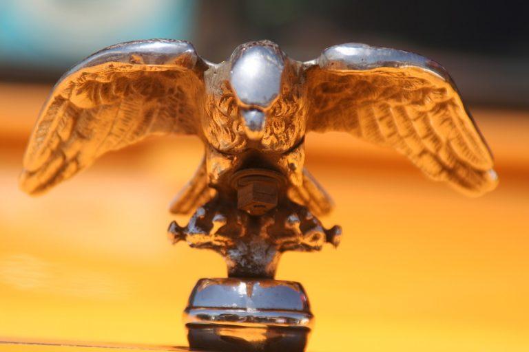 c;lose up of truck hood ornament