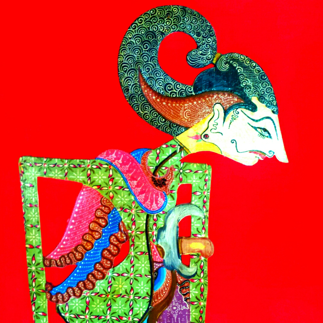 Shaddow puppet with red background in Indonesia