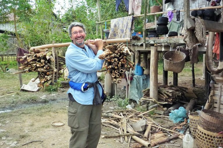 Pitching in, Laos