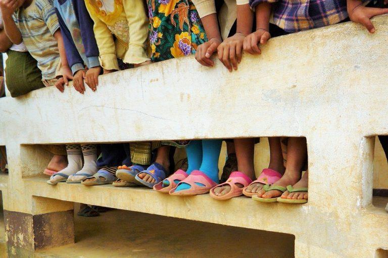 Laos, tiny feet