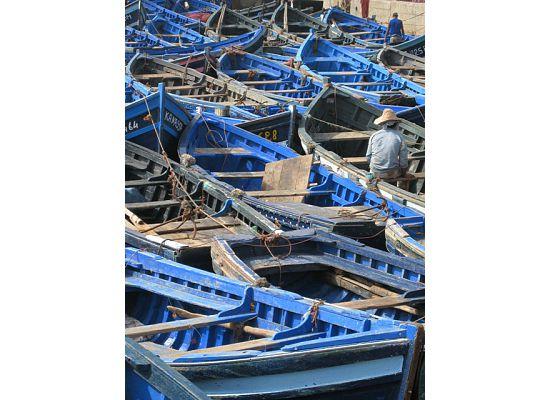 Morocco, Eassaouria -boats