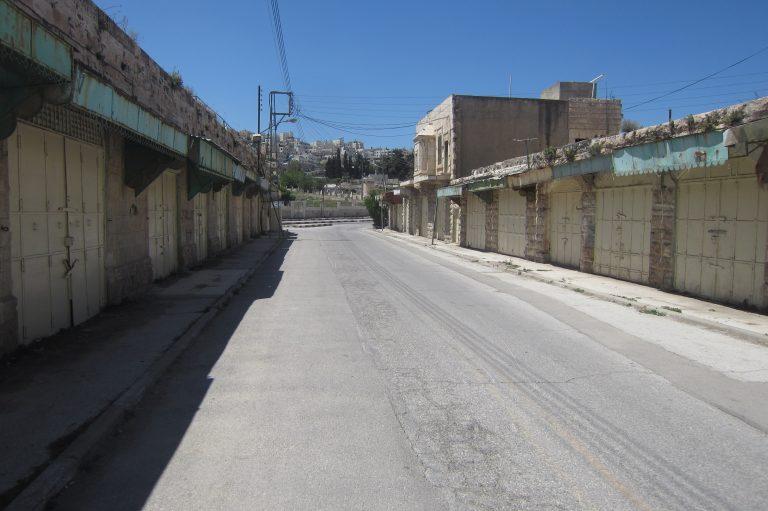 Desserted street in Hebron