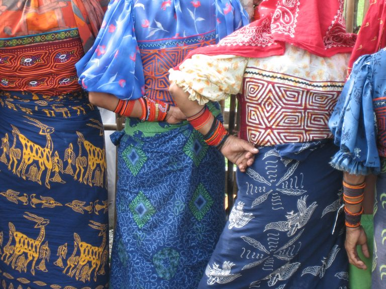 closeup of Kuna women dresses