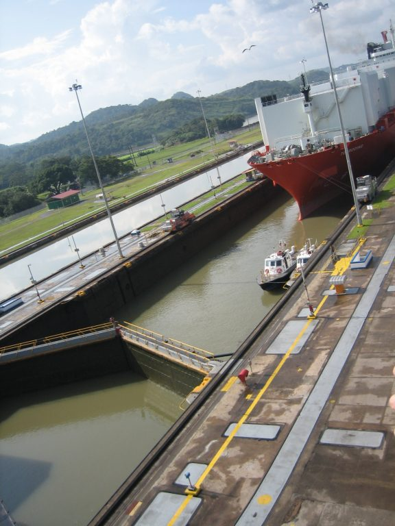 ship entering Panama Canal