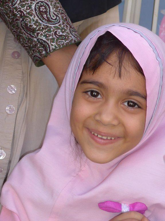 Smiing Iranian girl