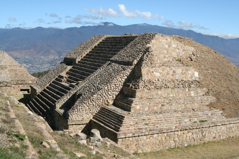 Pyramid at Monte Alban, Oaxaca Mexico