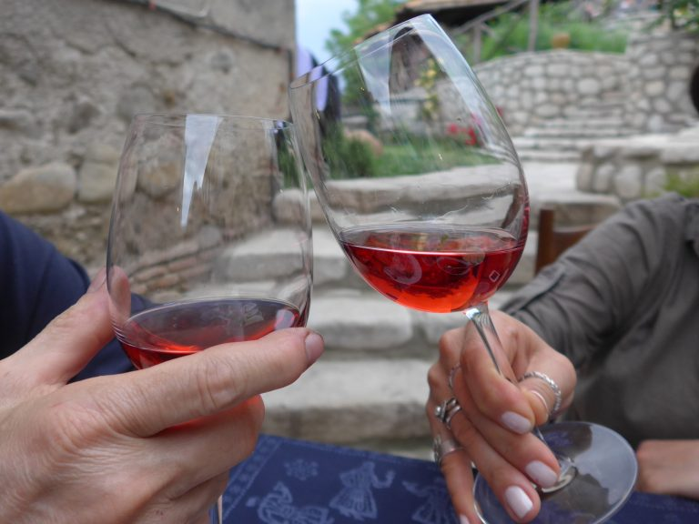 two glasses of wine in Georgia