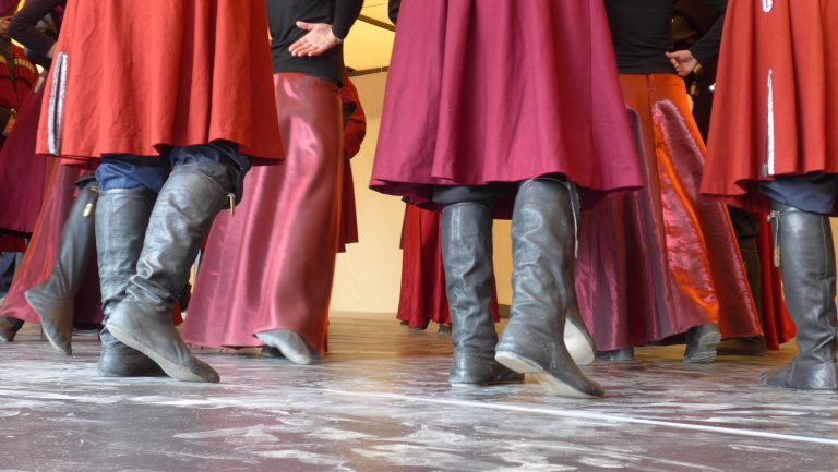 boots and dancing in Svaneti