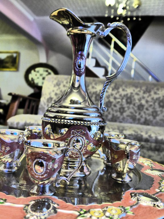 turkish tea pot and glasses