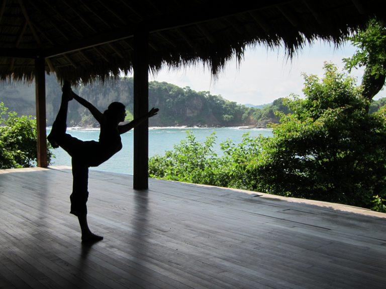 woman in yoga pants Nicaragua